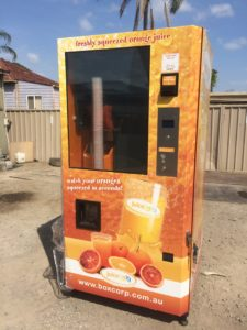Fresh Orange Juice Vending Machines – 5 MACHINES